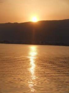 Sunset in Anna Sagar Lake Ajmer